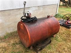 140 Gallon Round Fuel Tank