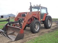 1984 Massey Ferguson 2640 MFWD Tractor W/Loader
