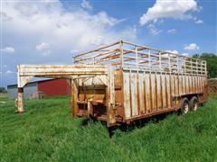 """1995 Open Top 8' X 20' T/A 4"""" Gooseneck Livestock Trailer"""