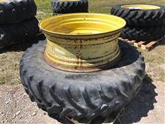 John Deere 16X42 Rims W/18.4R42 Goodyear Tires
