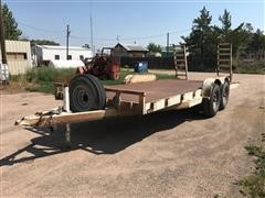 1990 Temco T/A Flatbed Equipment Trailer