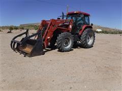 2005 Case IH MXM140 MFWD Tractor w/ Loader