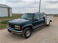 1998 GMC Sierra 3500 4x4 Crew Cab Service Truck