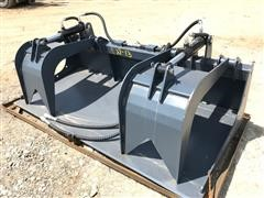 "Wolverine 72"" Grapple Bucket Skid Steer Attachment"