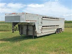 1999 Barrett Tri/A GN Livestock Trailer
