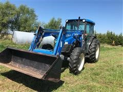 2000 New Holland TN70S 4WD Tractor W/Loader