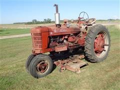 """1950 Farmall H 2WD Tractor W/Woods 72"""" Belly Mower"""