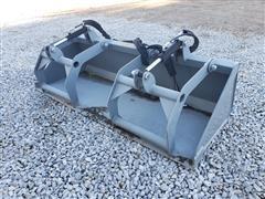 """2020 Hawz 80"""" Wide Grapple Bucket Skid Steer Attachment"""