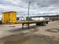 1985 Trailmobile F71T-5SAJ T/A Flatbed Trailer