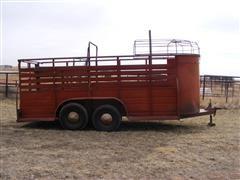 1973 W W Livestock Trailer