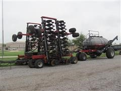 2004 Case IH SDX40 Air Drill W/2001 ADX 3380 Air Cart