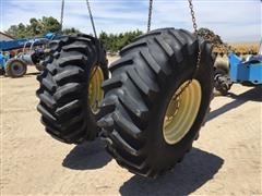 Firestone 23.1-26 12-Ply Tires W/John Deere 8-Bolt Rims