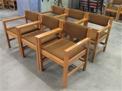 Oak Board Room Chairs