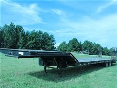 2009 Kaufman Commex T/A Drop Deck Trailer W/Dovetail & Ramps