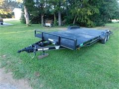 2012 (Titled As 2013) Buck Dandy T/A Bumper Pull Flatbed Trailer