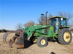 1975 John Deere 4430 2WD Tractor w/Farm Hand F258 Front End Loader/Grapple