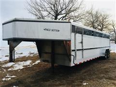 1998 K&O Pacesetter Gooseneck Livestock Trailer