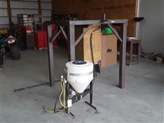 Shop Built Soybean Inoculate Treatment Stand