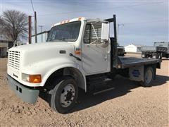2000 International 4700 T 444E Flatbed Truck