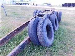 Cut Off Truck Frame & Tires