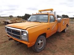 1991 Dodge 350 Diesel Dully Pickup W/Utility Bed