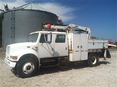 2000 International Navistar 4700 Crane Truck