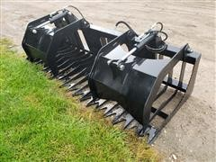 "2019 Brute 79"" Wide Root/Brush Grapple Skid Steer Attachment"