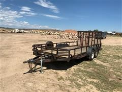 2001 Big Tex 60CH Road Runner Drop Split Ramp T/A Utility Trailer