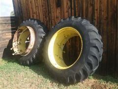 Co-Op Power 2 Rim Clamp Duals W/16.9-38 Tires