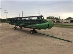2009 John Deere 630D Draper Header & Transport