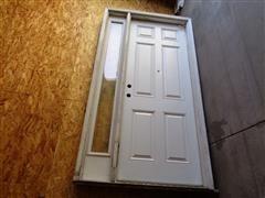 Metal Exterior Door W/Jamb