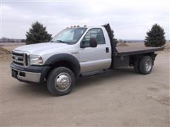 2006 Ford F550 XLT Super Duty 4x4 Dually Flatbed Dump Truck