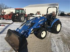 2008 New Holland T2320 Compact Utility Tractor W/Loader