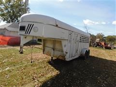 1988 Kiefer Built Master Elite Gooseneck T/A Livestock Trailer