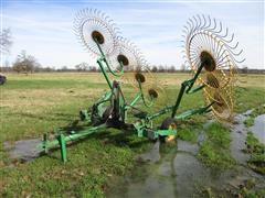 Tonutti 8 Wheel Hay Rake