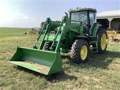 1995 John Deere 7800 MFWD Tractor W/Loader