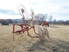 3-Pt 4 Wheel Double Wheel Rake