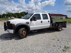 2009 Ford F550XL Super Duty 4x4 Crew Cab Dually Flatbed