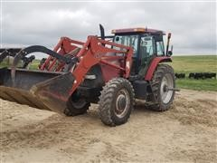 2005 Case IH MXM175 MFWD Tractor W/ LX172 Loader