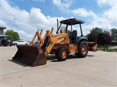 1997 Case 570LXT MFWD Tractor Loader & Box Blade
