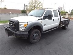 2011 Ford F450 4x4 Crew Cab Flatbed Dually Pickup