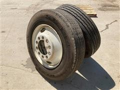 BF Goodrich 275/80R24.5 Radial Tires & Rims
