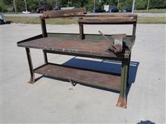 Steel 2 Shelf Shop Bench
