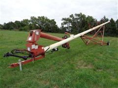 """Feterl 1072 10"""" X 72' Portable Grain Auger W/Swing Auger"""