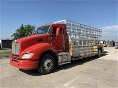 2013 Kenworth T440 S/A Plate Glass Service Truck W/Glass Rack Bed