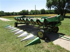 1991 John Deere 853A 8R30 Row Head W/Header Trailer