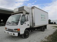 2003 Isuzu NPR Box Truck W/Reefer Unit
