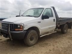 1999 Ford SRW Super Duty F250 4x4 Flatbed Pickup