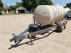 T/A 1000-Gal Nurse Tank On Trailer