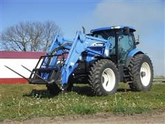 2004 New Holland TS115A MFWD Tractor W/New Holland 56LB Loader